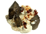 Smoky Quartz With Spessartine