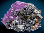 Gorgeous combination of lustrous Galena crystals with Sphalerite and Amethyst!