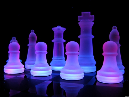 Neon Chess Photography Abstract Background Wallpapers On Desktop