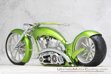 Independent Cycle Custom - custom, bike, chrome, light green