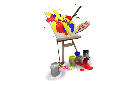 Colour Me !!! - 3d-art, board, colour, wds, abstract, brush, paint, widesreen, greeting