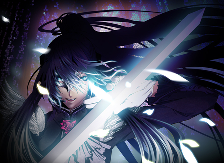 Vocaloid - vocaloid, kamui gakupo, anime, vocaloid girls, blades, female warrior, anime warrior, sword