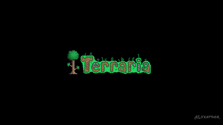 Terraria - black, terraria, minecraft, wallpaper