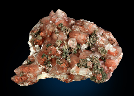 Calcite & Copper & Quartz - mineral, rock, copper, crystal, quartz, calcite
