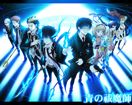 Ao no Exorcist - rin, blue, anime, team