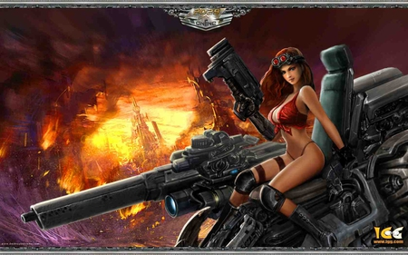 Fantasy Girl - hot image, hot, huge gun, fantasy girl