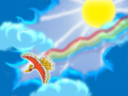 Ho_Oh The Rainbow Pokemon - pokemon, legendary pokemon, ho-oh, pokemon pictures