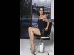 Neve Cambelle In A Barber's Chair