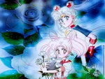 Sailor Moon and Chibi-Usa