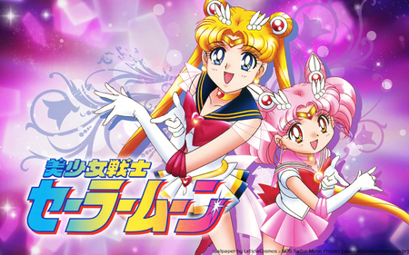Super Sailor Moon and Sailor Chibi-Moon - rini, super sailor moon, manga, usagi tsukino, serena, chibi-usa, sailor chibi-moon, anime, sailor moon, usagi