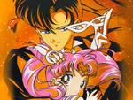 Tuxedo Mask and Sailor Chibi-Moon