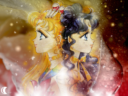 Super Sailor Moon And Luna Luna Super Sailor Moon Anime Manga