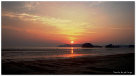 Krabi - beach, krabi, sunset, thailand