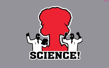 Science! - red, blow, tech, black, fun, atomic, nice, nuclear, cool, science, grey, awesome, funny, white