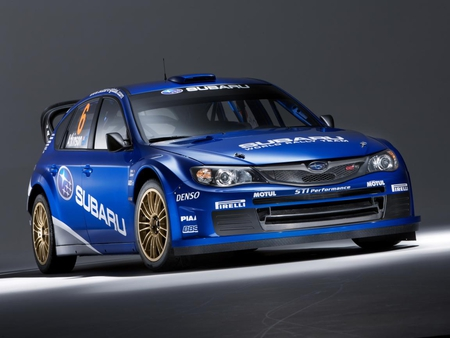 SUBARU - cars, speed, blue, subaru