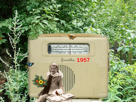 I love you, radio - memories of the past, radio, music, little girl