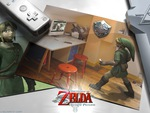 Link plays Twilight princess on the nintendo Wii
