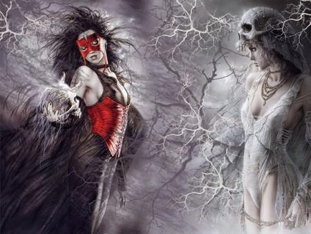 Black and white art skull royo black fight dark