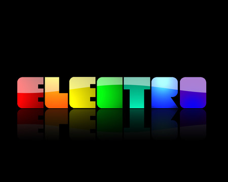 Electro Wallpaper - yellow, blue, 3d, black, rainbow, electro, purple, orange, music, green, abstract, red