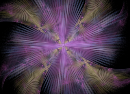 Purple - fractals, purple, tan, star, fractal