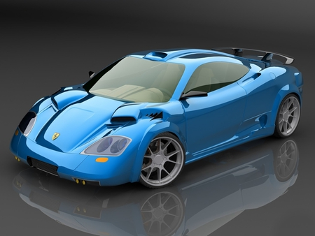 Ferrari  SpearFast Concept - concept car, spearfast, ferrari, blue