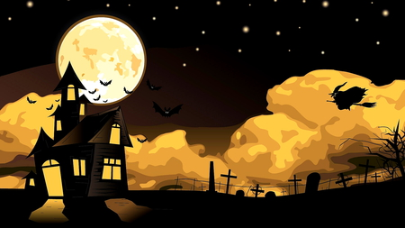 Halloween 2 - lbeautiful, halloween, witch, beautiful, october, clouds, moon, night, season