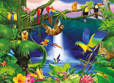 Jungle Monkeys Primates Amp Animals Background Wallpapers