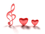 Music LoveHearts Notes