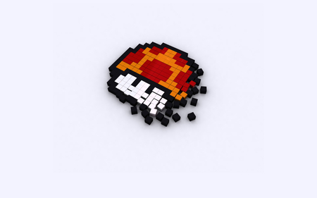 mushroom - games, mario, mushroom, game, video games, fun, pixel, abstract, video, nice, cool, awesome, simple, funny, white