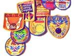 vintage bowling badges