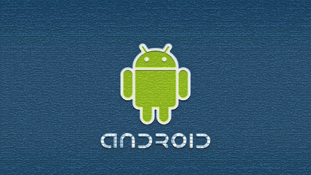 Android'Space'Shot - android text, green android white border, android, blue