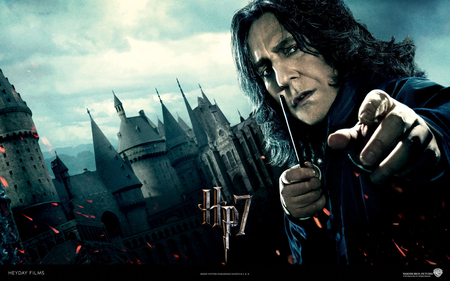 Severus Snape - part 2, wand, harry potter, hp7, black, hogwarts, robe, deathly hallows, severus snape, half blood prince