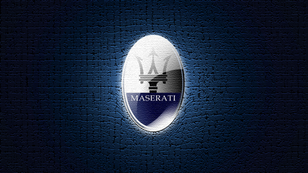 Maserati'(LoGo)'Statement - maserati, logo, silver, statement, blue, shiny