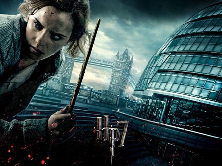 Hermione Granger - building, part 2, hermione granger, deathly hallows, wand, harry potter, hp7