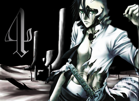 Ulquiorra Cifer - bleach, hueco mundo, vasto lordes, hollow, ulquiorra cifer