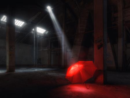 Lighting Red Umbrella