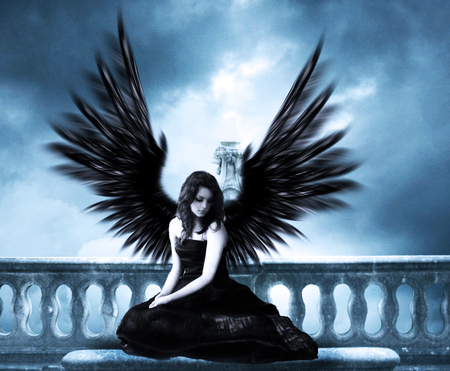 Dark Angel Fantasy Abstract Background Wallpapers On