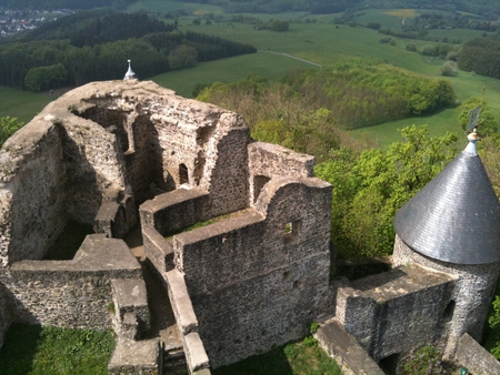 nurburg castle - castle, top, nurburg, panorama, nurburgring
