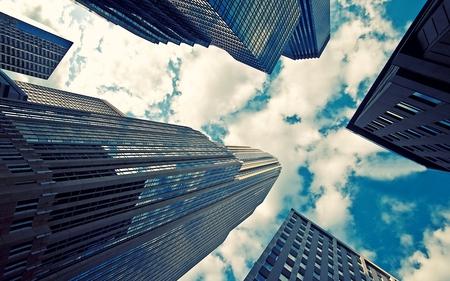 Skyscraper - glass, skyscraper, architect, sky