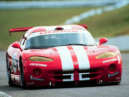 dodge viper race car - four wheels, american, race car, muscle car