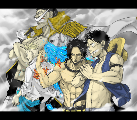 One Piece - edward newgate, luffy, ace, one piece