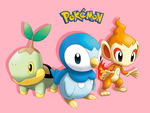 Turtwig, Chimchar & Piplup