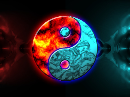 Elemental Yin Yang 3d And Cg Abstract Background Wallpapers On