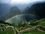 Rainbow over Machu