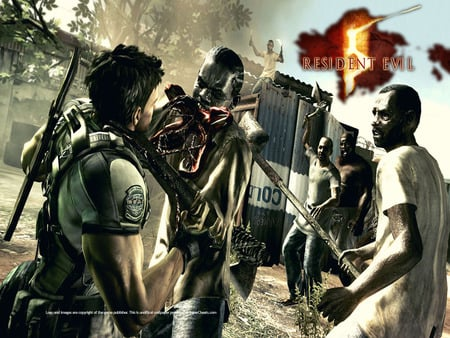 A little help here! - resident evil, chris redfield, zombie, resident evil 5