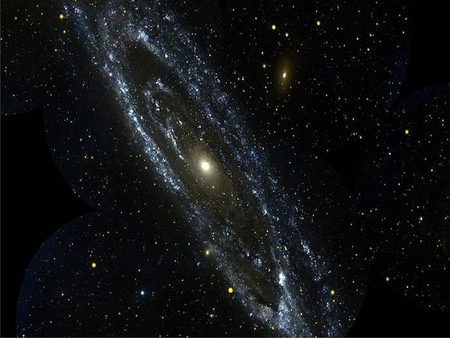 Andromeda Galaxy - stars, night sky, space, cluster, galaxy