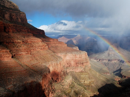 Rainbow Canyon - beautiful, rainbow, arizona, grand canyon