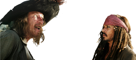 Pirates of the Caribbean Google Background Barbossa and Jack - background, black, search, pirate, captain, hat, pearl, jack, awesome, barbossa, google, sparrow, sword