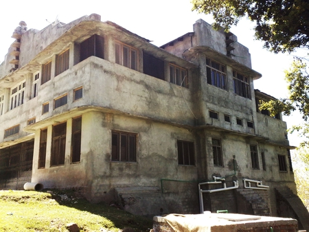 Haunted House - hills, house, sun, haunted house, home, haunted, nature