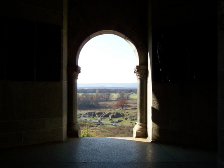 Inside Looking Out - gettysburg, monument, pa, history